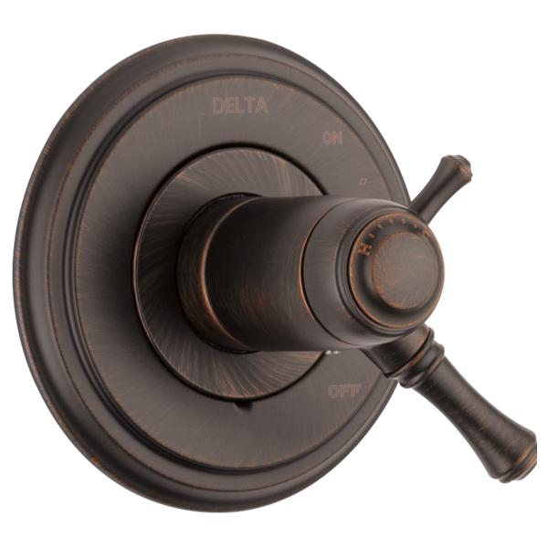 DELTA® T17T097-RB TempAssure® 17T 2-Function Valve Trim, 2.5 gpm Shower, Venetian Bronze