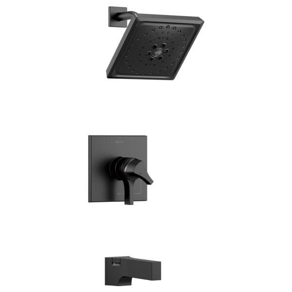 DELTA® T17474-BL 17 Series Tub and Shower Trim, 1.75 gpm Shower, Matte Black