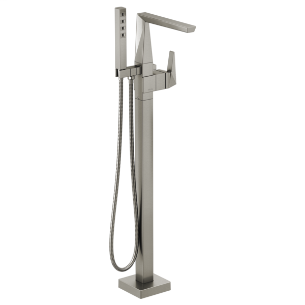 DELTA® T4743-SSFL Trillian™ Tub Filler Trim, 10 gpm at 60 psi Flow Rate, Stainless Steel, 1 Handle, Domestic