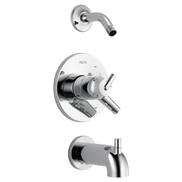 DELTA® T17459-LHD Monitor® 17 1-Function Tub and Shower Trim, Polished Chrome