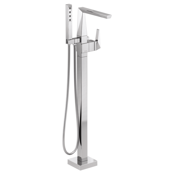 DELTA® T4743-FL Trillian™ Tub Filler Trim, 10 gpm at 60 psi Flow Rate, Polished Chrome, 1 Handle, Domestic
