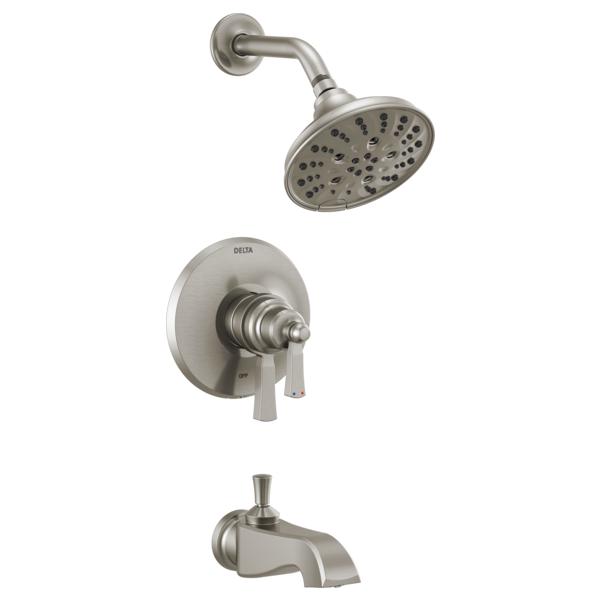 DELTA® T17456-SS Monitor® 17 Tub/Shower Trim, 6.2 gpm Valve, 1.75 gpm Shower, Brilliance® Stainless Steel