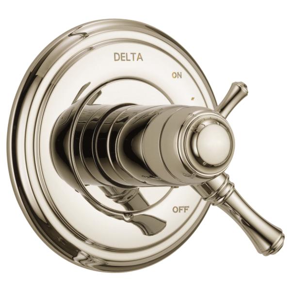 DELTA® T17T097-PN TempAssure® 17T 2-Function Valve Trim, 2.5 gpm Shower, Polished Nickel