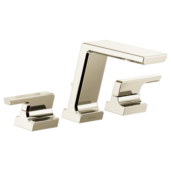 DELTA® T2799-PN Roman Tub Trim, Pivotal™, 1.75 gpm Flow Rate, 11 to 16 in Center, Brilliance® Polished Nickel, 2 Handles, Function: Traditional, Domestic