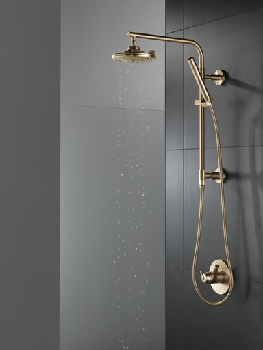 H2Okinetic® 3-Setting Raincan Shower Head - Champagne Bronze
