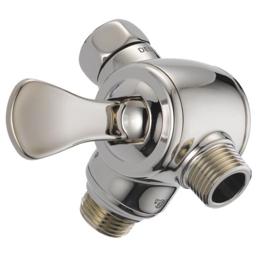 3-Way Shower Arm Diverter for Hand Shower - Polished Nickel
