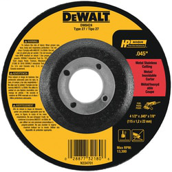 DEWALT DW8424 4-1/2 x .045 x 7/8 Inch Thin Cutting Wheel