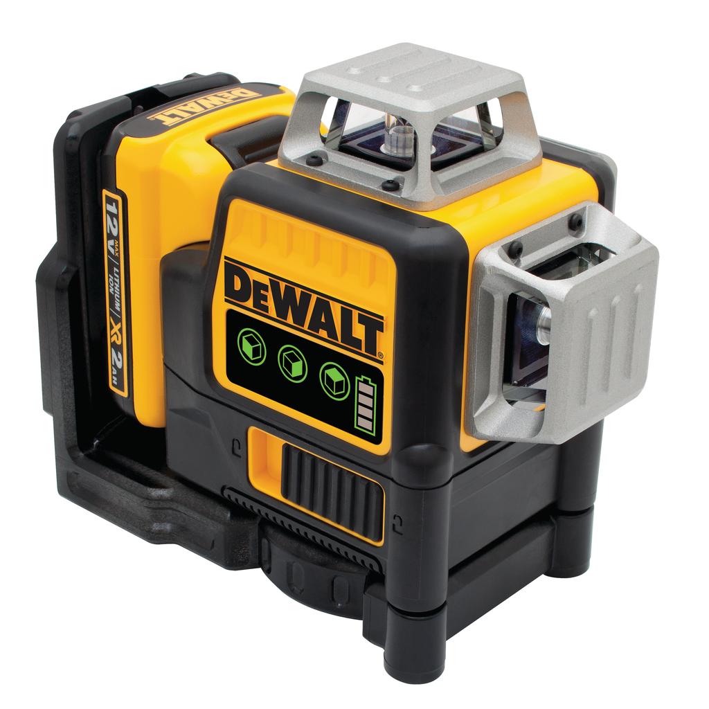 DEWALT DW089LG Line Laser 3-BeamSelf leveling ,Green 12V