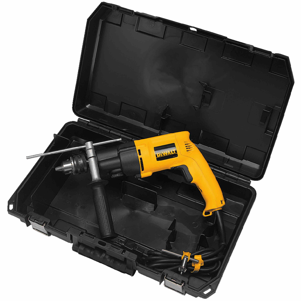 DEWALT DW505K 650 W 7.8 Amp 1/2 Inch 1100/2700 RPM Corded Power Hammer Drill Kit