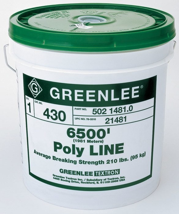 Greenlee 430 6500 Foot 210 lb Green Tracer Polyfiber Spiral Wrap Fishing System Poly Line