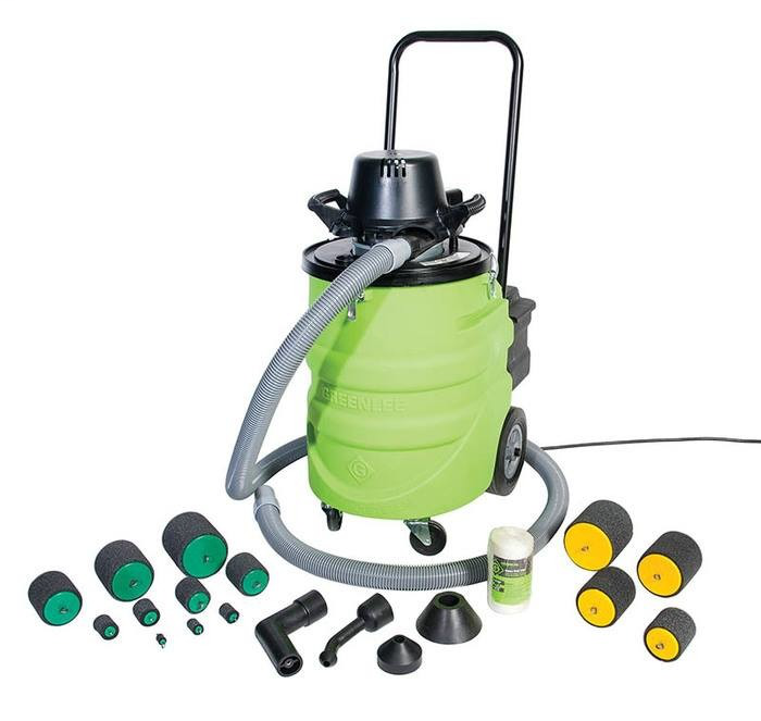 Greenlee 690-15 107 CFM 110 VAC 12 Gallon 2-Stage Blower or Vacuum Power Fishing System