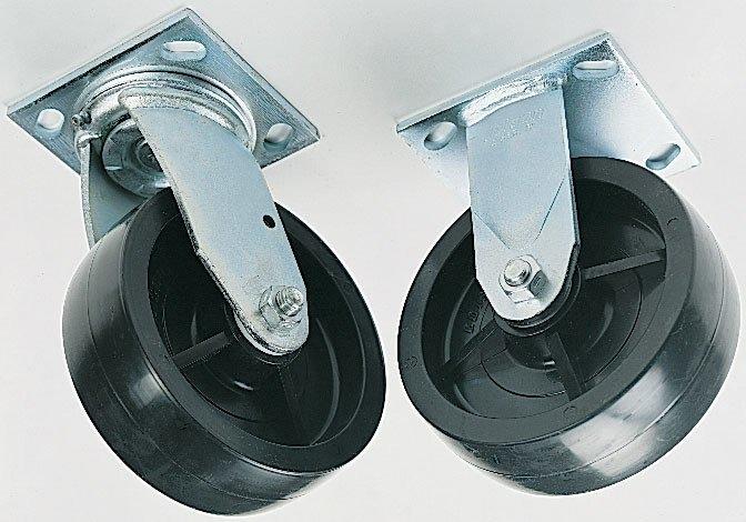 Greenlee 603 6 Inch 4-Piece 2-Swivel Plate Caster Set