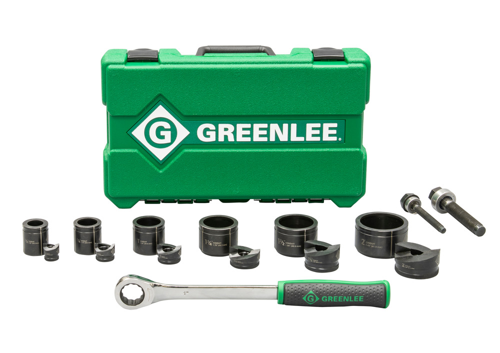 Greenlee 7238SB 1/2 x 2 Inch Ratchet Knockout Punch Driver Kit