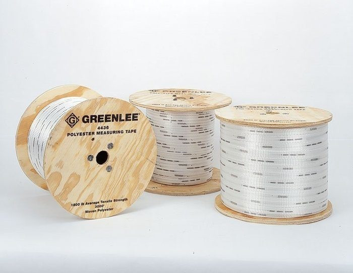 Greenlee 4435 1/2 Inch x 3000 Foot 1250 lb Polyester Measure/Pulling Tape
