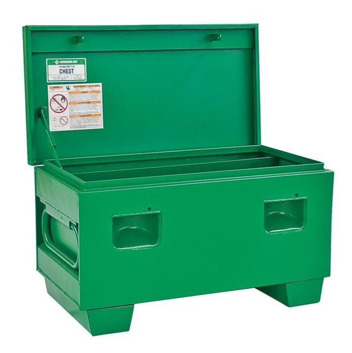 Greenlee 1636 6.7 Cubic Foot Steel Recessed/Concealed Hinged Storage Chest Assembly