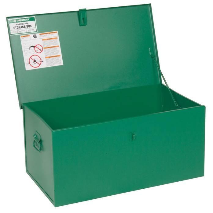 Greenlee 1531 31 x 18 x 15 Inch 4.8 Cubic Foot Welder Rigid Conduit Bender Storage Box