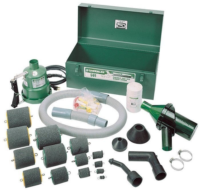 Greenlee 591 120 VAC Vertical Discharge Portable Blower Power Fishing System
