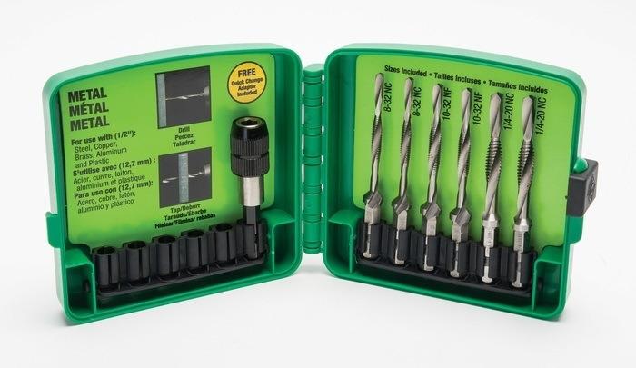 Greenlee LDTAPKIT 1-Piece High Speed Steel Long Drill/Tap Bit Kit
