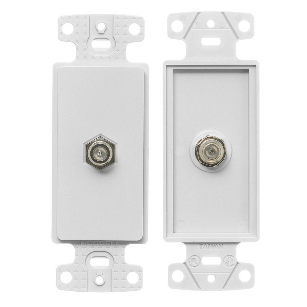 Mayer-Plates, 1-Gang Frame, Decorator, With F-Connector, White-1
