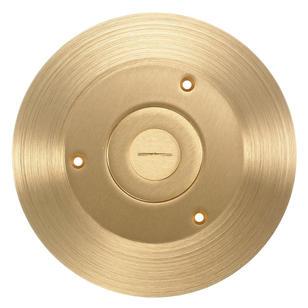 Hubbell Wiring Devices SF2525 2-1/8 x 3/4 Inch Brass Round Floor Box Cover and Flange