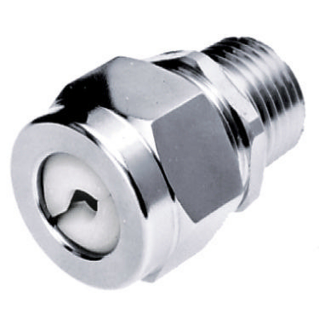 Hubbell Wiring Devices SHC1022ZP 1/2 Inch Male Threaded 0.25 to 0.38 Inch Zinc Plated Steel Straight Cord Connector
