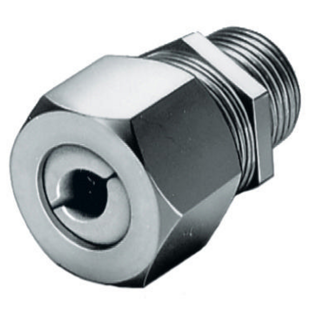 Hubbell Wiring Devices SHC1022SS 1/2 Inch Male Threaded 0.25 to 0.38 Inch Stainless Steel Straight Cord Connector