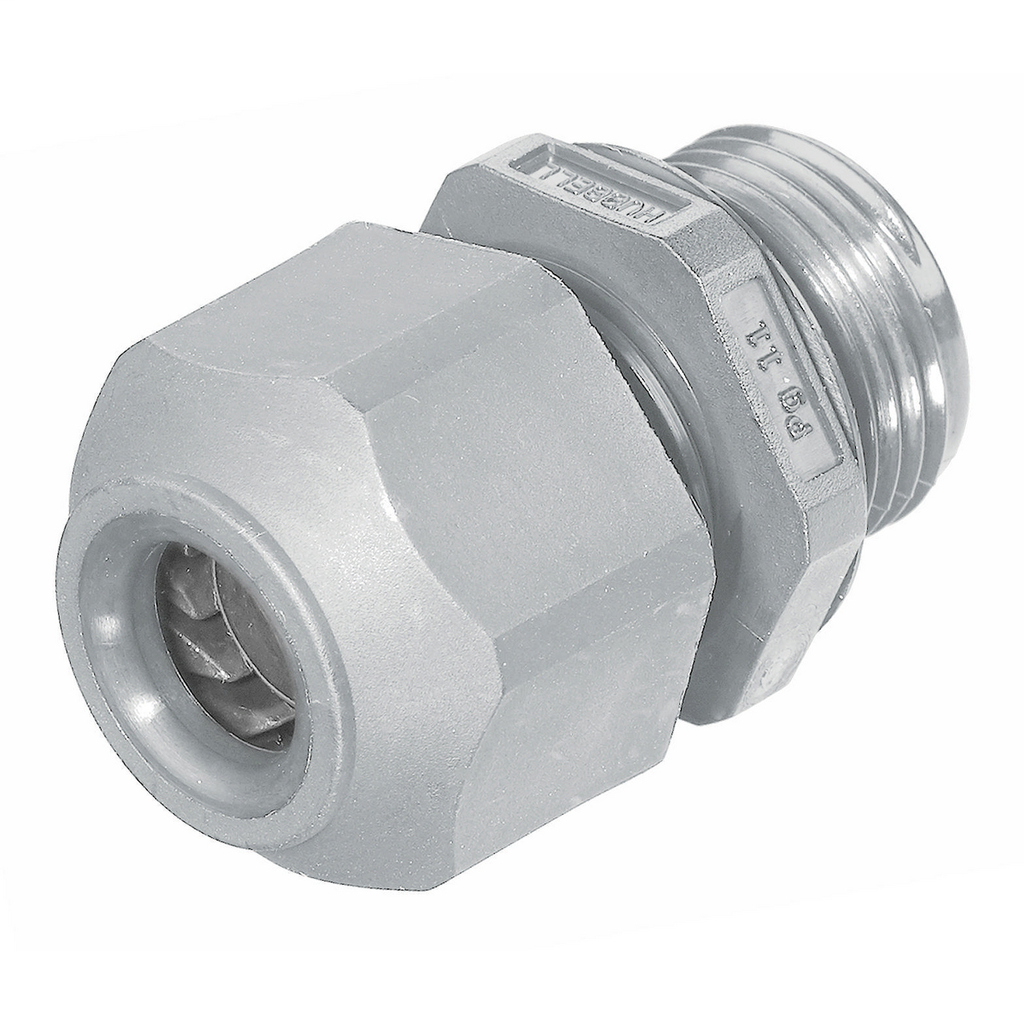 Hubbell Wiring Devices SECP11GA PG11 0.23 to 0.4 Inch Gray Non-Metallic Low Profile Cord Connector