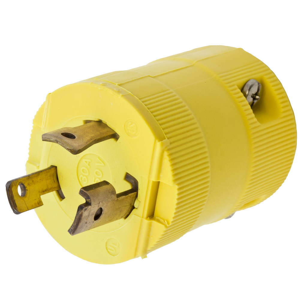 Hubbell Wiring Devices HBL2621VY 30 Amp 250 Volt 2-Pole 3-Wire NEMA L6-30P Yellow Locking Plug
