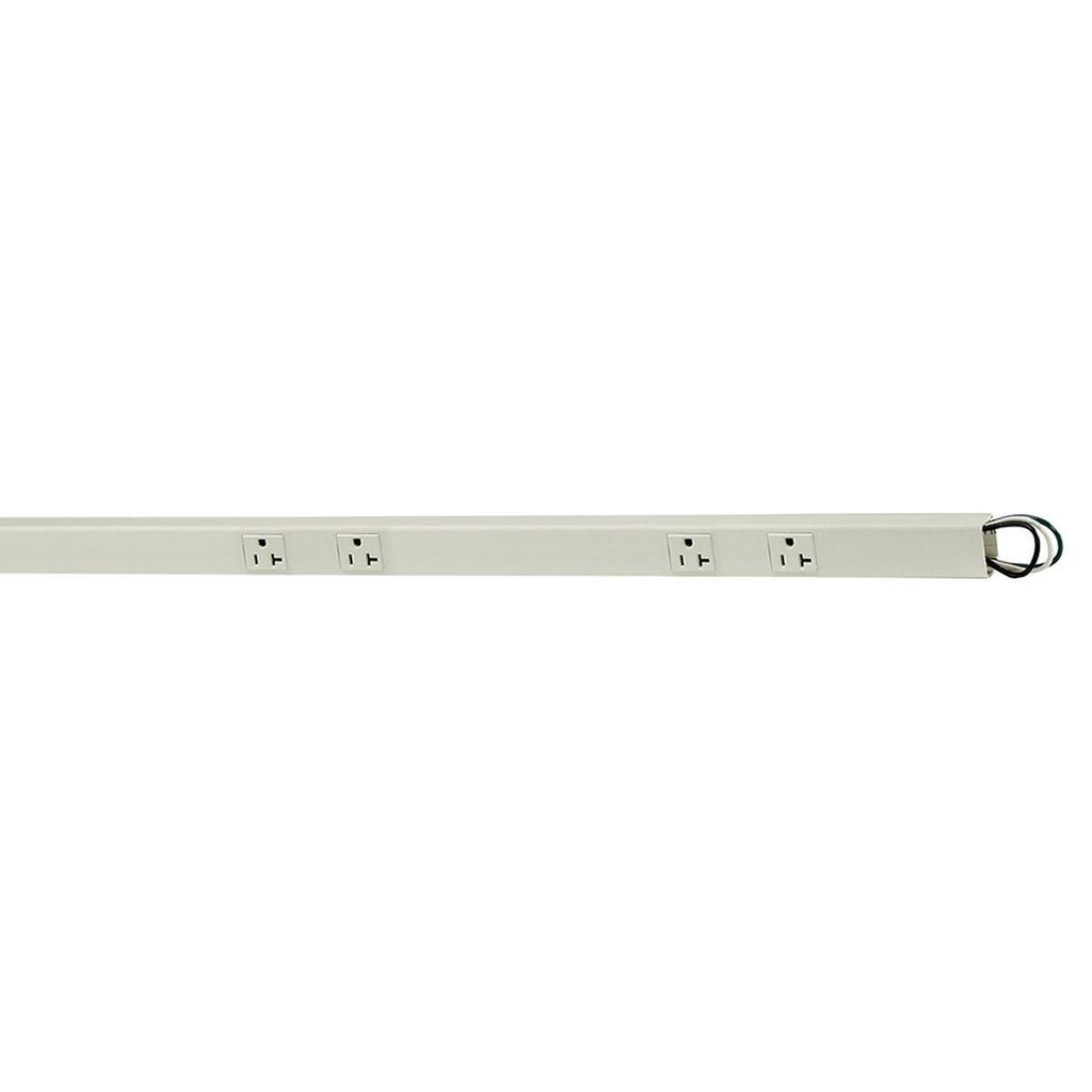 Hubbell PT206118 PlugTRAK, 6', 20A, 1CIRC, 4 DUP
