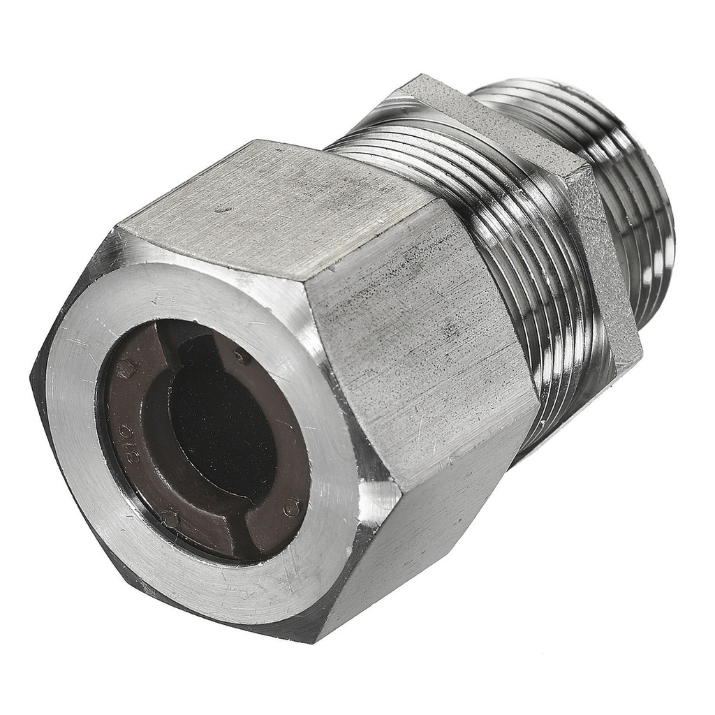 Hubbell Wiring Devices SHC1036SS 3/4 Inch Male Threaded 0.5 to 0.63 Inch Stainless Steel Straight Cord Connector
