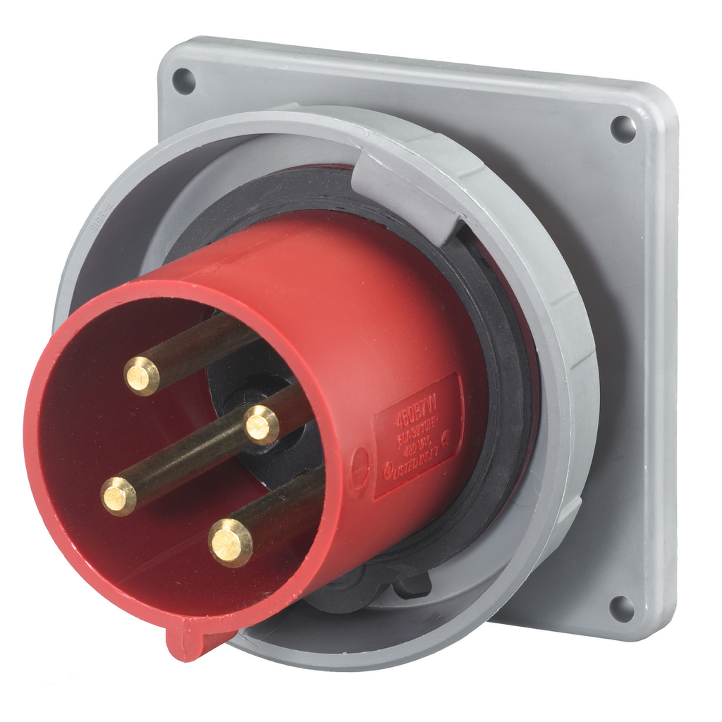 Hubbell Wiring Devices HBL4100B7W 100 Amp 480 Volt 3-Phase 3-Pole 4-Wire Watertight IEC Pin and Sleeve Inlet