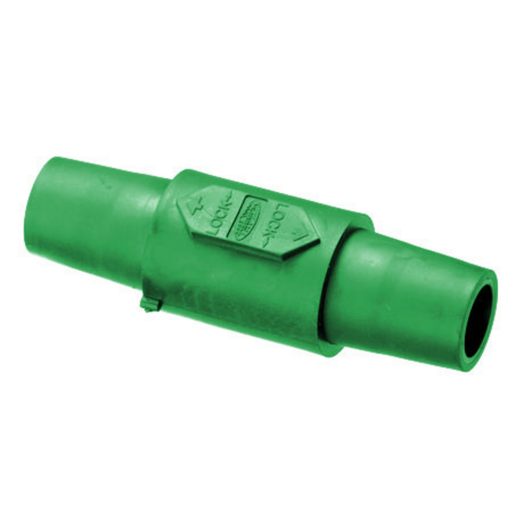 Hubbell Wiring Devices HBLDFGN 1-Pole Green Double Female Connector