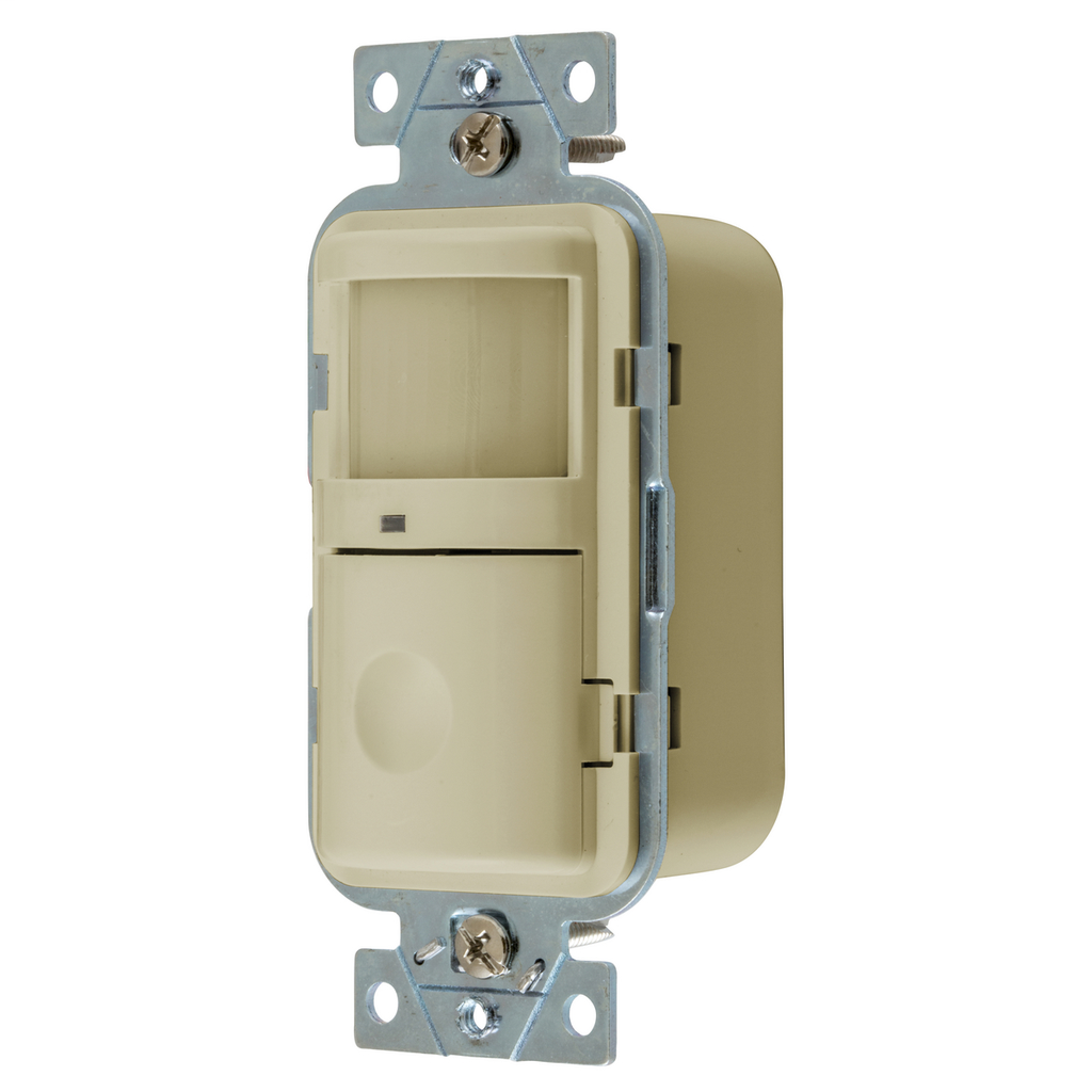 Hubbell Wiring Devices WS2000I 120/277 Volt Ivory Manual Adjust and Manual/Auto-On Operation Passive Infrared Wall Switch