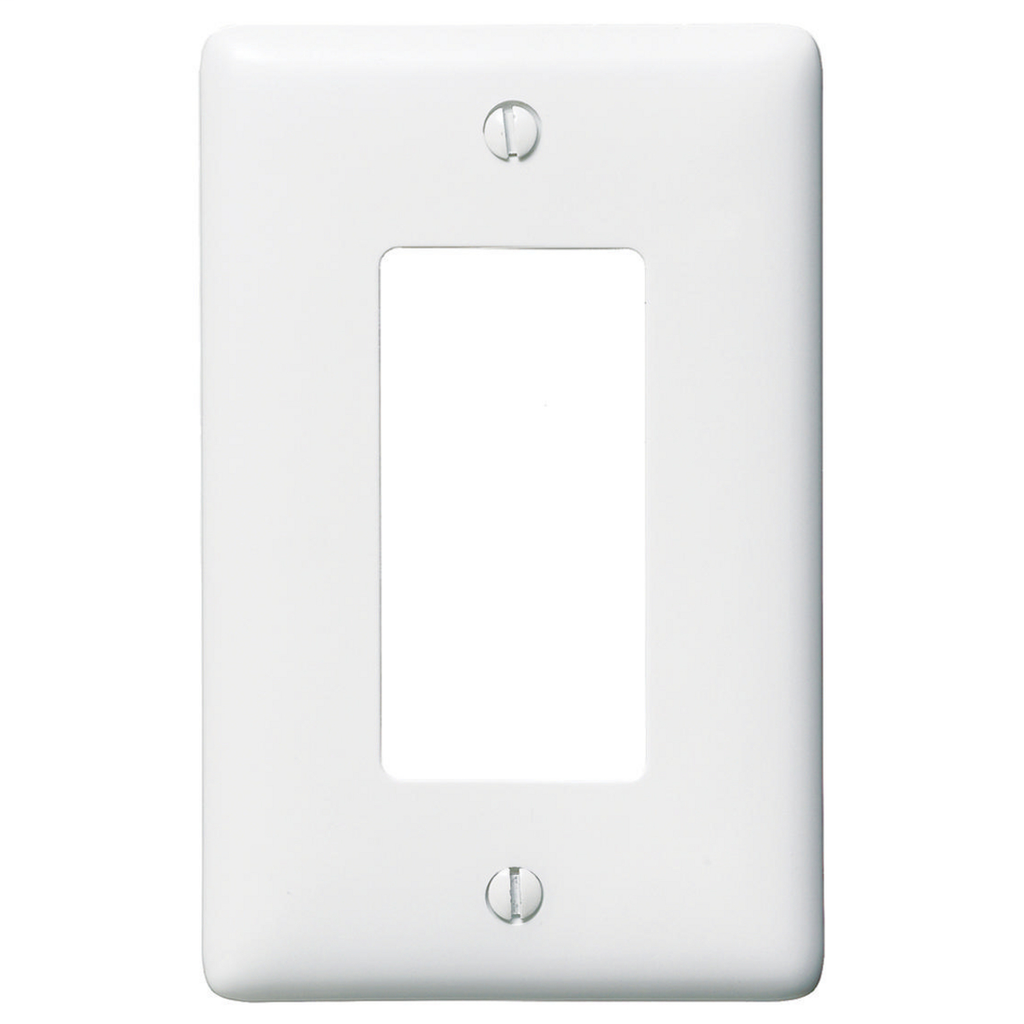 Hubbell Wiring Devices NP26W 1-Gang White Nylon Standard 1-Decorator Switch Wallplate