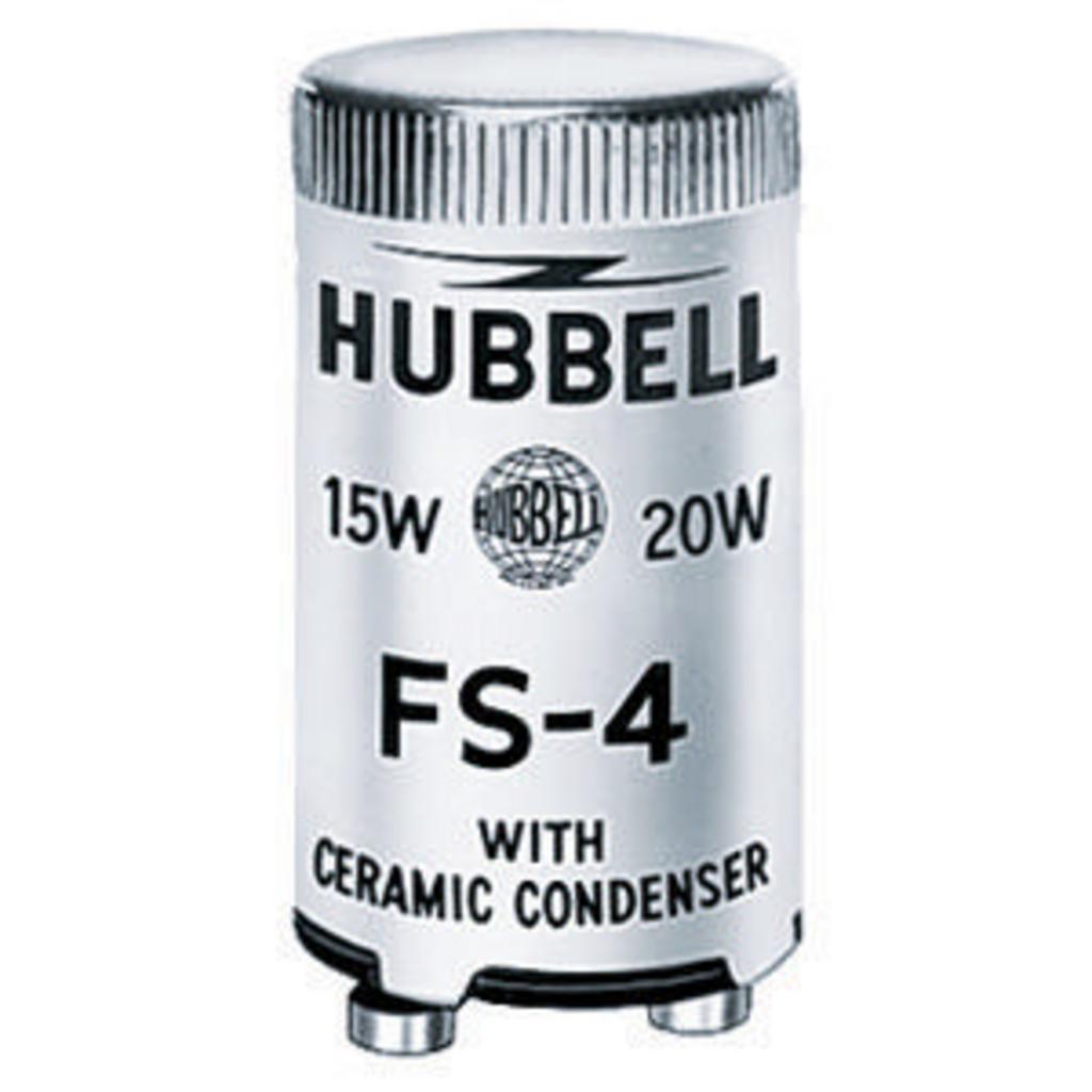 Hubbell Wiring Devices FS4 13/30/40 W Neostart Fluorescent Starter