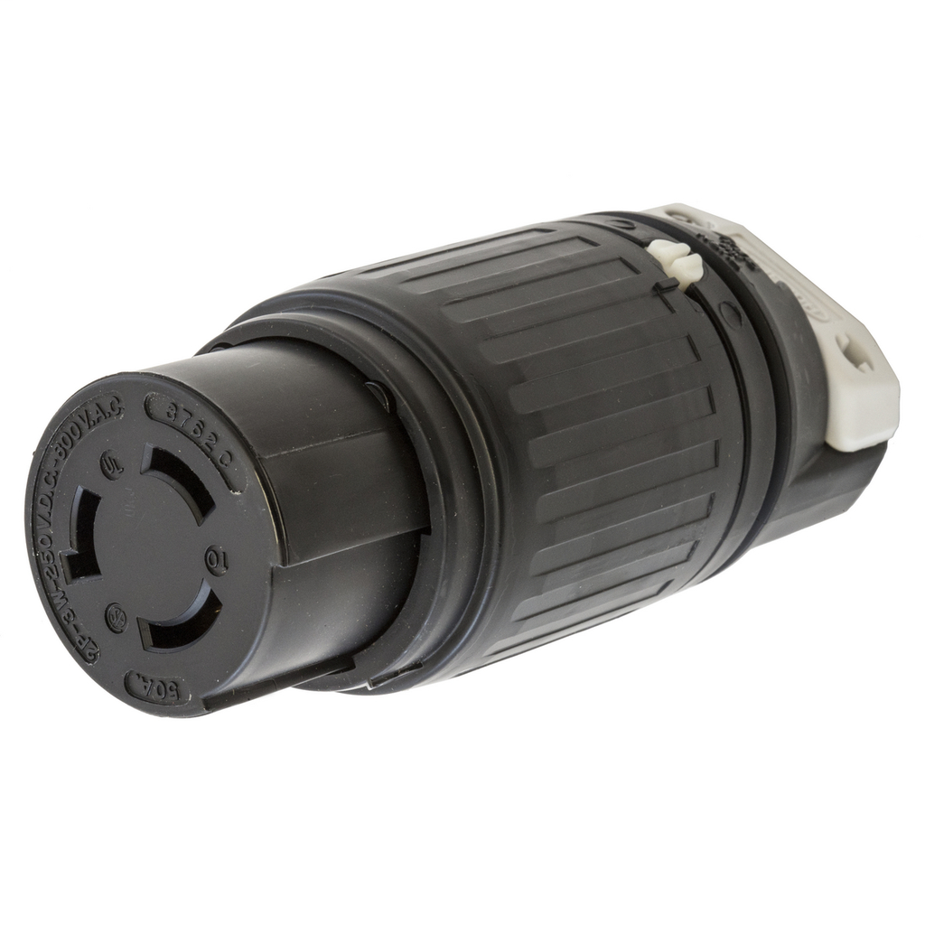 Hubbell Wiring Devices HBL3762C 50 Amp 600 VAC/250 VDC 2-Pole 3-Wire Nylon Locking Connector