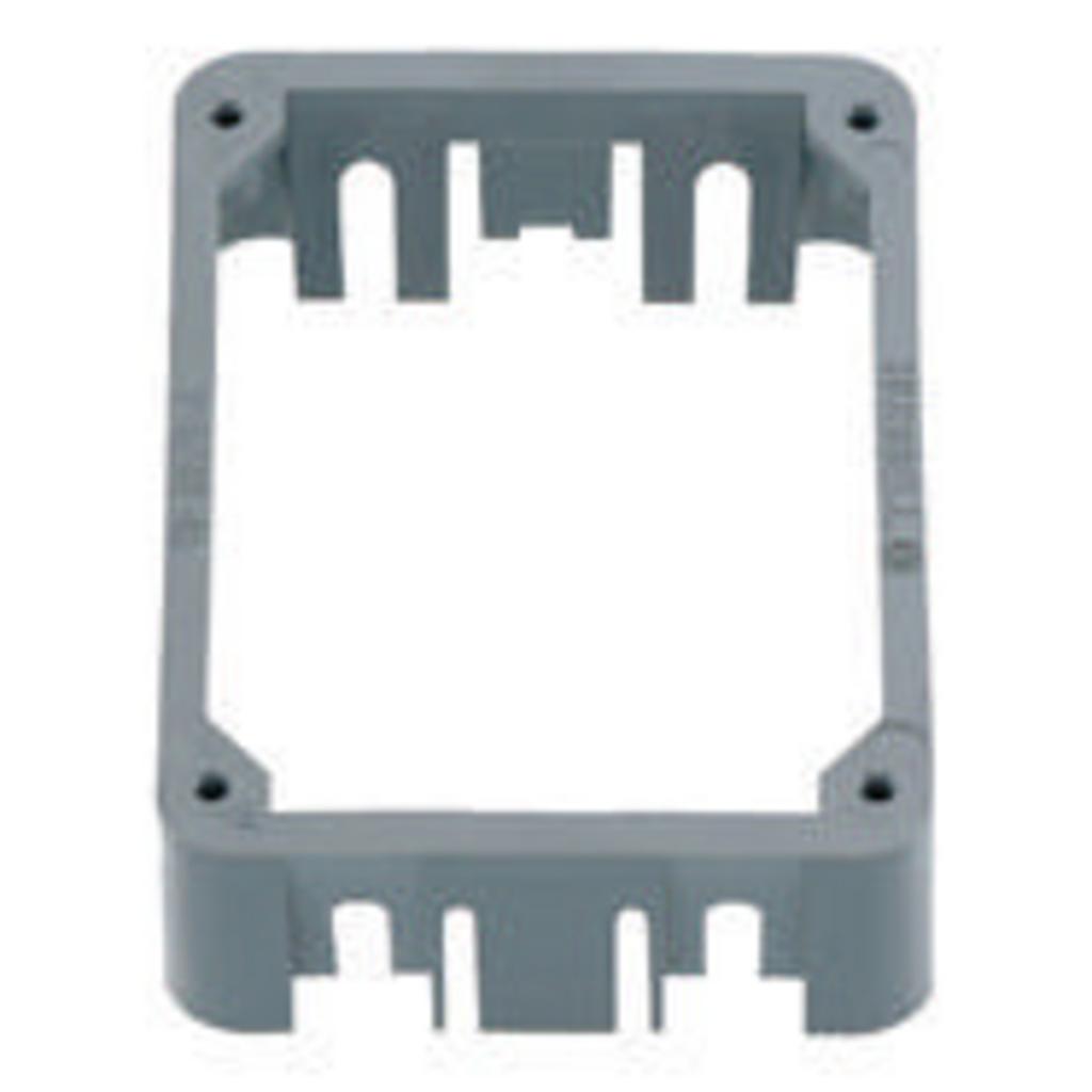 Hubbell Wiring Devices PFBRAC Non-Metallic Concrete Floor Box Gray Adapter Collar