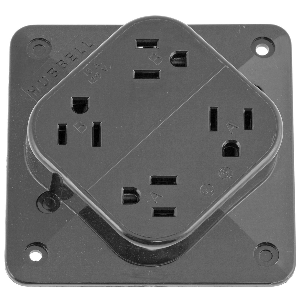Hubbell Wiring Devices HBL415GY 15 Amp 125 Volt 2-Pole 3-Wire NEMA 5-15R Gray Straight Blade Receptacle