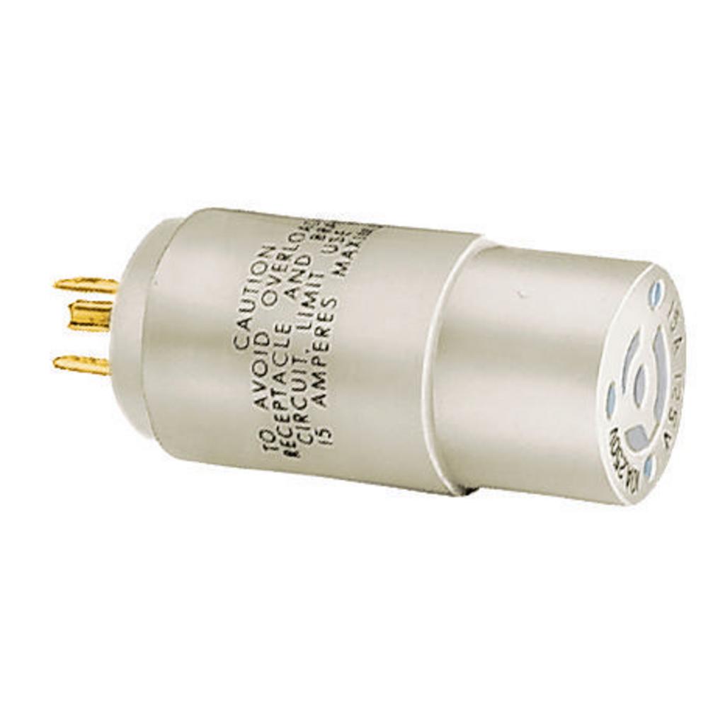 Hubbell 9054AADAP, NEMA 5-15P TO 15A NON-NEMA Locking