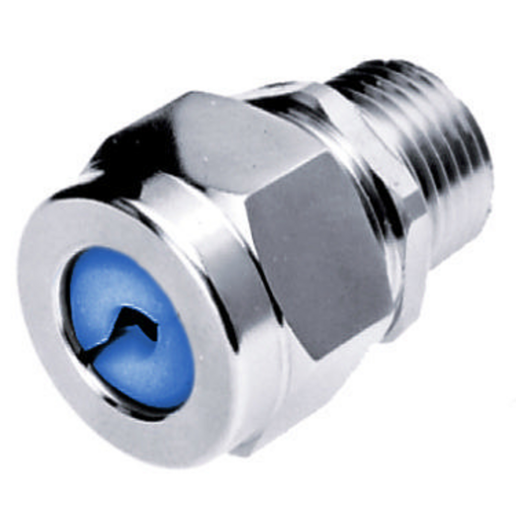 Hubbell Wiring Devices SHC1023ZP 1/2 Inch Male Threaded 0.38 to 0.5 Inch Zinc Plated Steel Straight Cord Connector