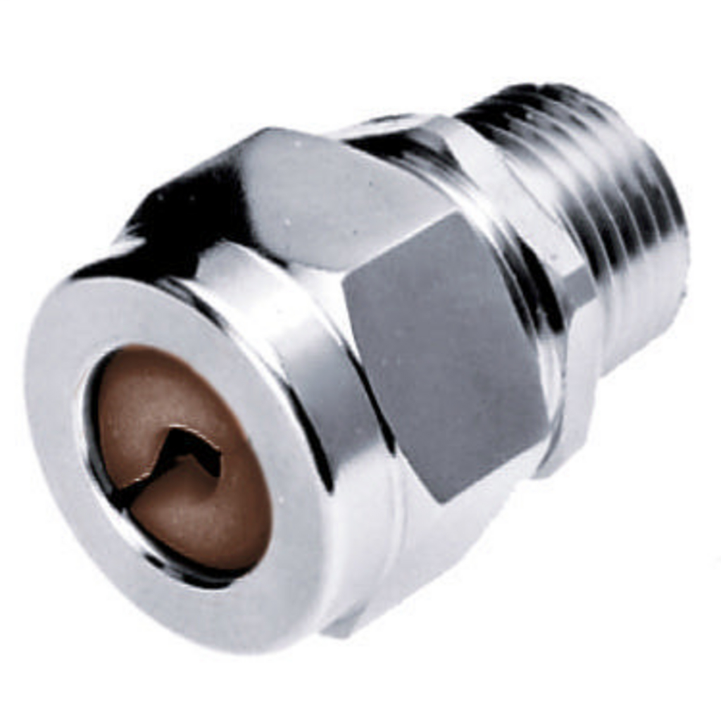 Hubbell Wiring Devices SHC1024ZP 1/2 Inch Male Threaded 0.5 to 0.63 Inch Zinc Plated Steel Straight Cord Connector