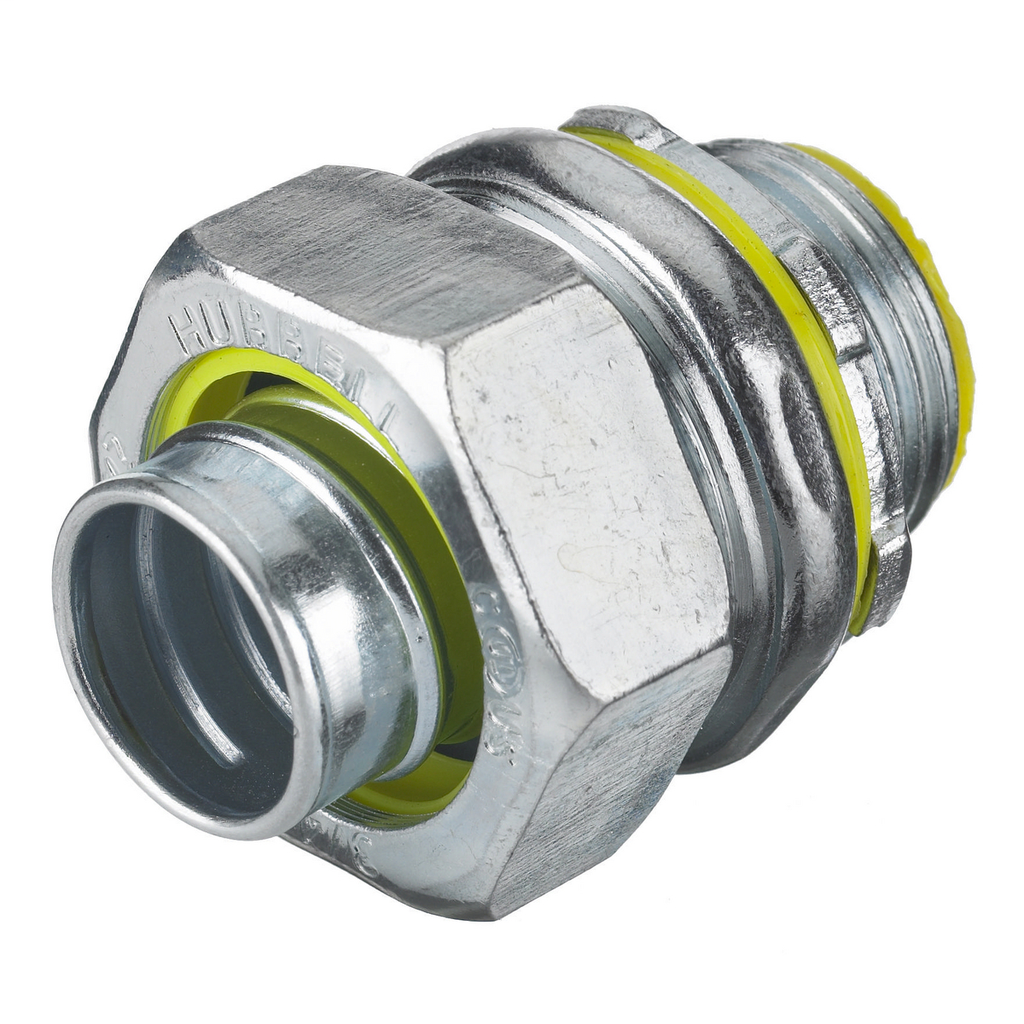 Hubbell Wiring Devices H0501 1/2 Inch Male Threaded Insulated Straight Metallic Liquidtight Conduit Connector
