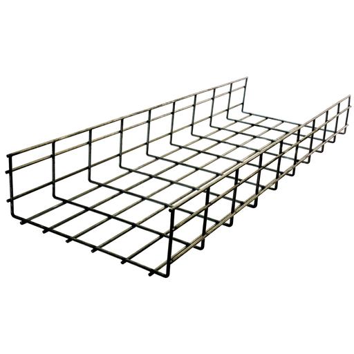 """Wire Basket Tray, Overhead Tray, 6"""" x 12"""" x 118"""", Flat, Pre-Galvanized"""