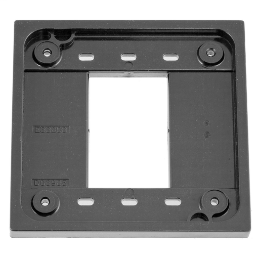 Mayer-Straight Blade Devices, Accessories, 4-Plex Adapter Plate for 1 and 2 Gang device boxes, Gray, Single Pack-1