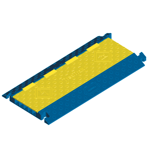 Kellems Wire Management, 5 Channel TredTrak Blue & Yellow