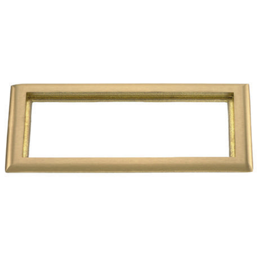 Floor and Wall Boxes, Recessed Concrete Floor Boxes, Carpet Flange, 3-Gang, Rectangular, Brass