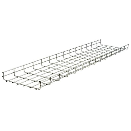 "Wire Basket Tray, Overhead Tray, 4"" x 18"" x 118"", Round, Pre-Galvanized"