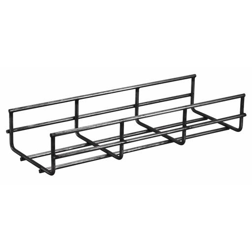 "Wire Basket Tray, Overhead Tray, 2"" x 4"" x 118"", Round, Black."