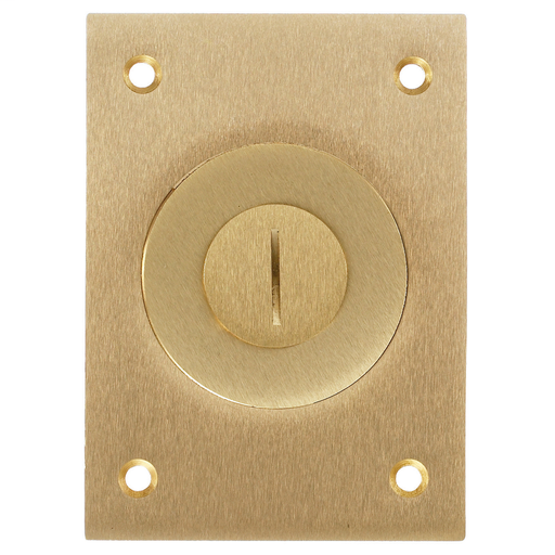 "Floor and Wall Boxes, Flush Concrete Floor Box Series, Cover, Rectangular (2-1/8""X 3/4""), Brass"