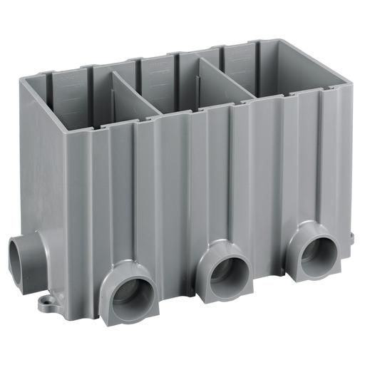 Mayer-Floor and Wall Boxes, Floor Boxes, Plastic Floor Box Series, Box, 3-Gang Rectangular, Plastic-1